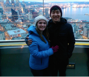 Nic & Maria at the Seattle Space Needle